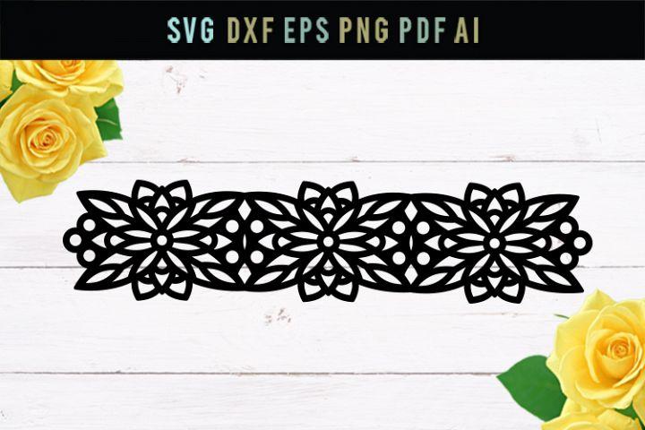 Flower Bracelet, SVG bracelet, DXF file, floral, geometric