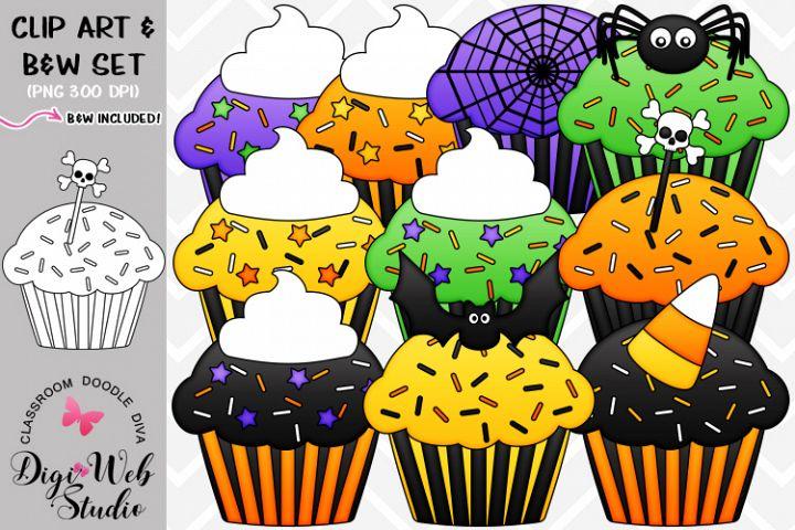 Clip Art / Illustrations - Halloween Cupcakes