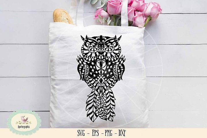 Owl mandala paper cut SVG PNG