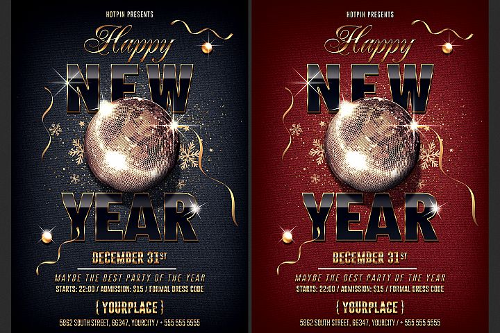 Classy New Year Party Flyer