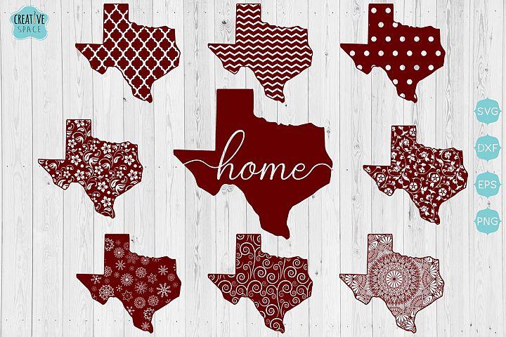 Texas State SVG Bundle,