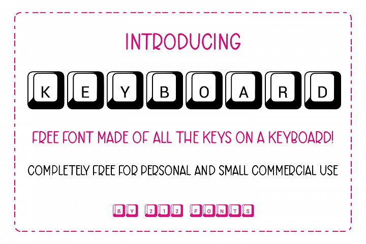 212 Keyboard Computer Keys Font