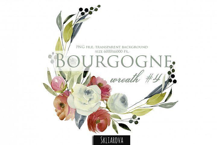 Bourgogne. Wreath #4