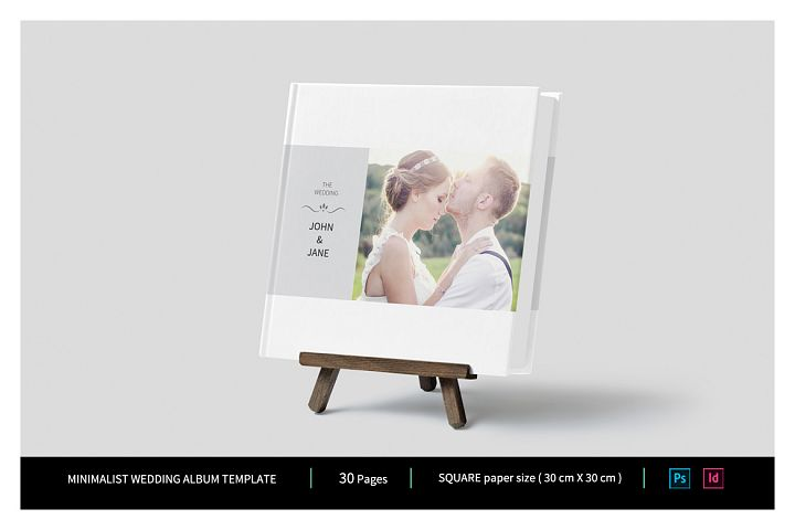 Minimalist Wedding Album Template