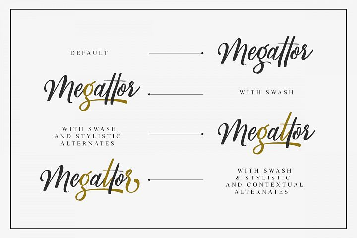 Megattor typeface example image 6