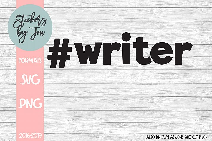 #Writer SVG Cut File