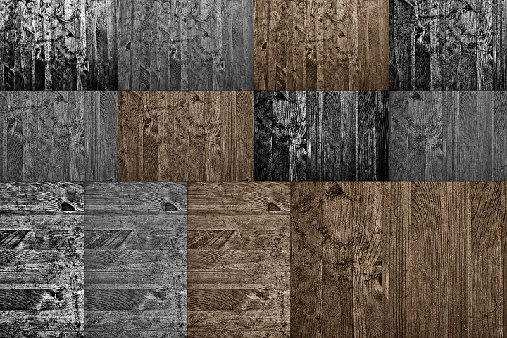 12 files - wooden grunge textures/backgrounds