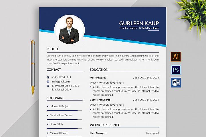 Professional Cv Resume Microsoft Word