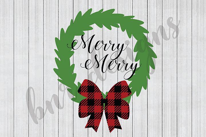 Christmas SVG,Wreath SVG, SVG Files, DXF Files
