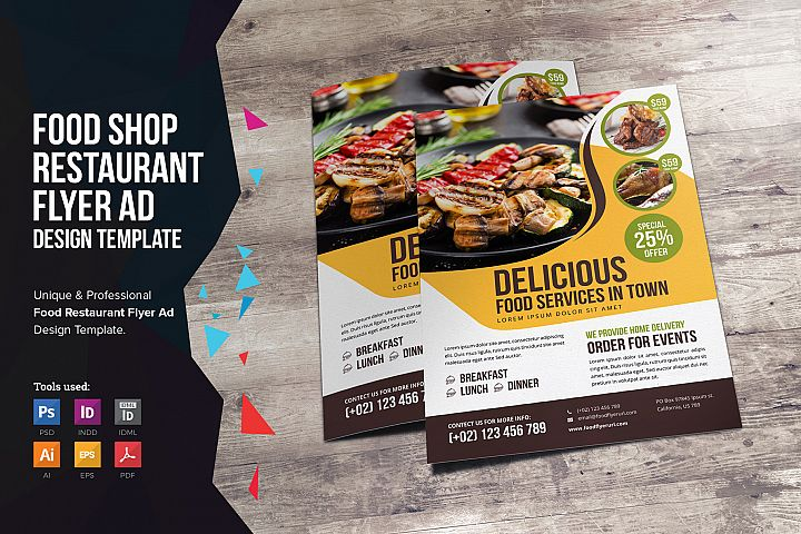 Food Restaurant Flyer Design v2