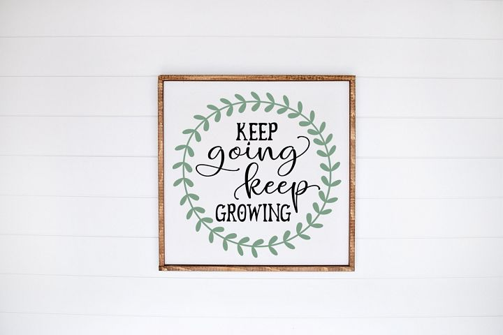 Spring Quote SVG - Keep Going Keep Growing