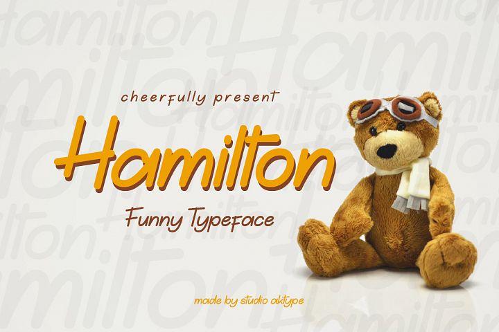 Hamilton Funny Typeface