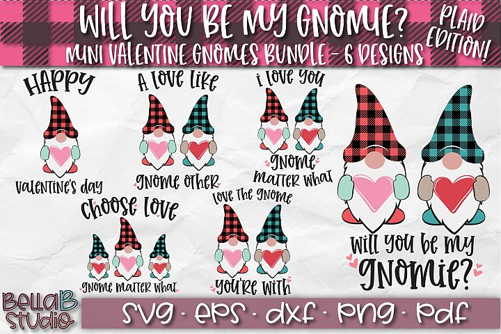 Valentine Gnomes SVG, Valentines Day Gnomes SVG Bundle