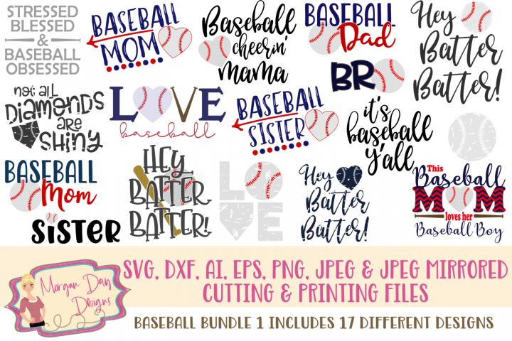 Baseball Bundle 1 SVG, DXF, AI, EPS, PNG, JPEG