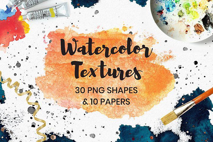 Watercolor Textures Clip Art
