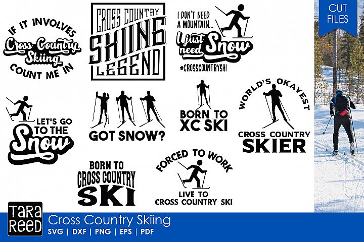Cross Country Ski Legend - Skiing SVG and Cut Files