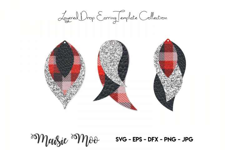Earring SVG | Faux Leather Earring Templates