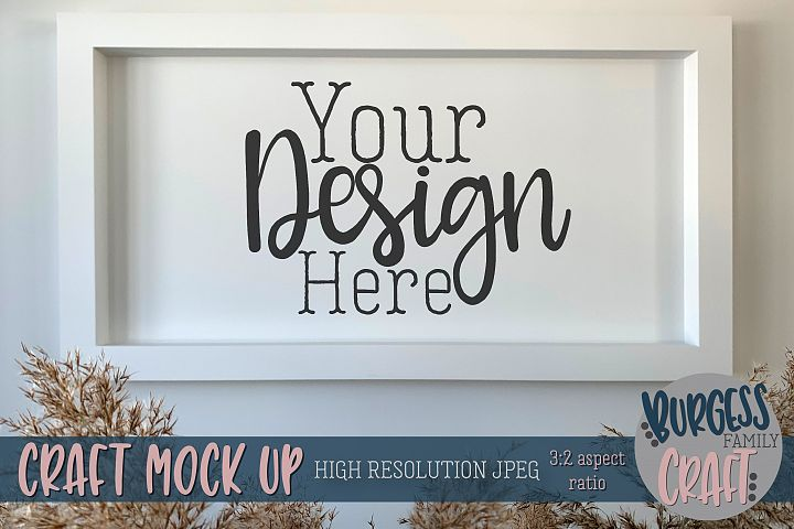 Wall frame Craft mock up |High Res JPEG