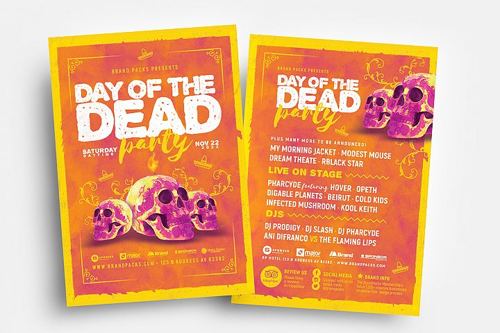 Day of The Dead Party Flyer Template