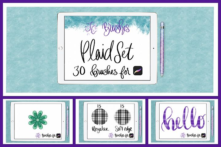 FC-Plaid Set of Brushes for PROCREATE