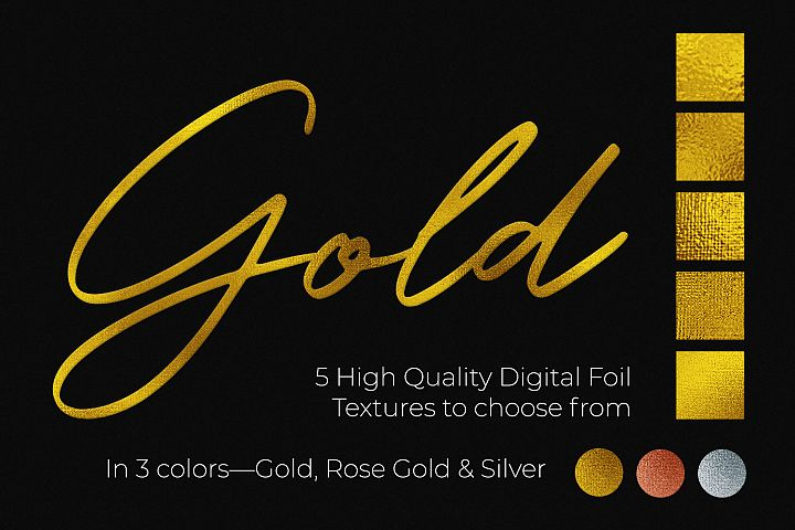 Hot Foil Stamp Effect Kit for Photoshop example 3