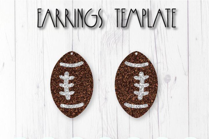 Football earrings template SVG, DIY earrings template