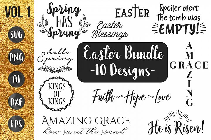 Easter - Spring - Bundle - SVG PNG EPS