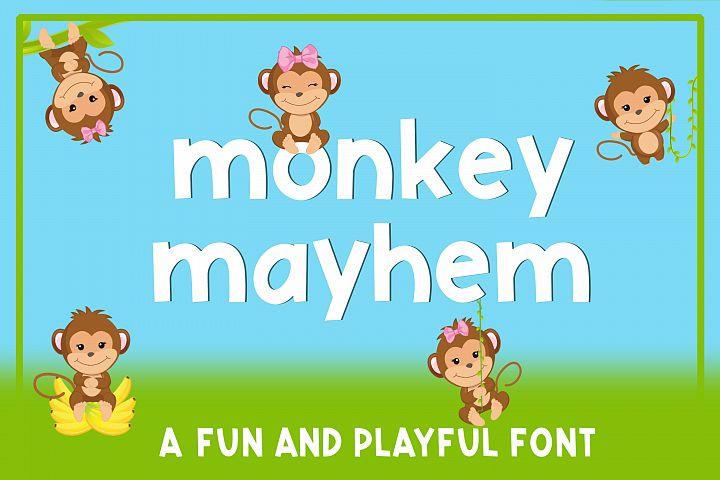 Monkey Mayhem - A fun and playful font example