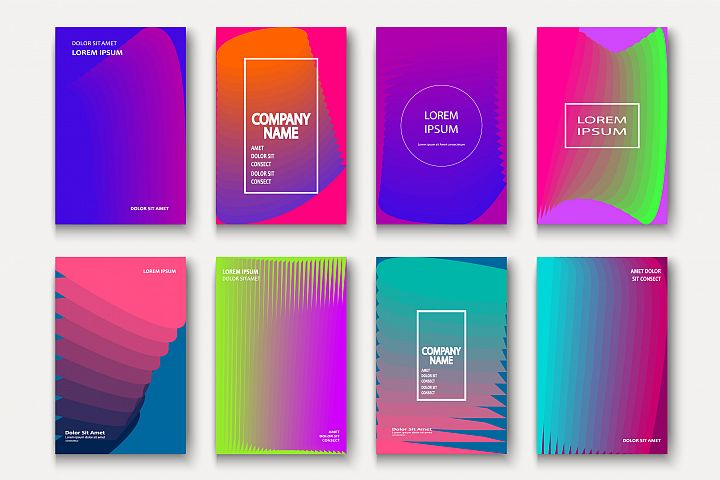 Trendy cool neon minimal abstract modern covers geometric
