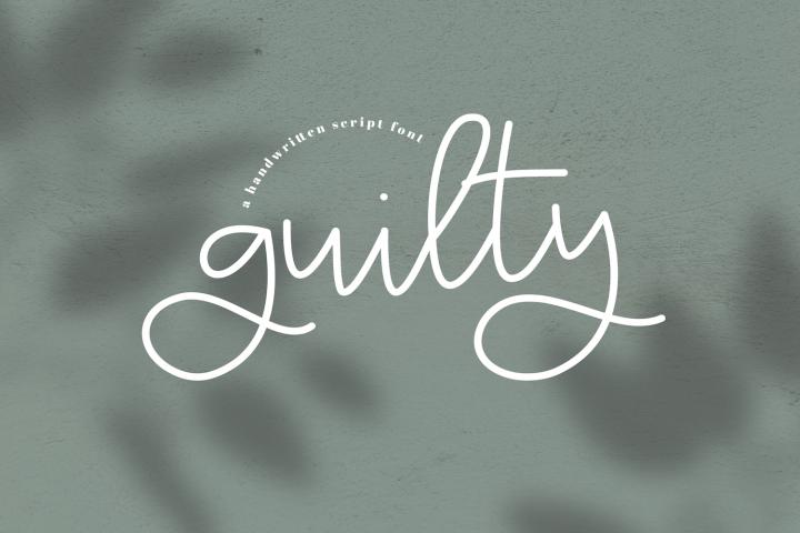 Guilty - A Handwritten Script Font