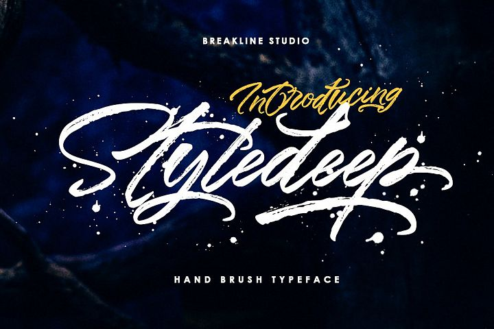 Styledeep Brush Typeface