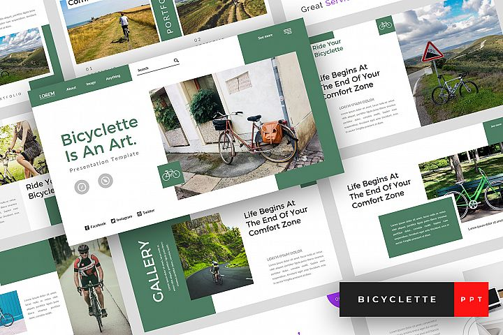 Bicyclette - Bicycle PowerPoint Template