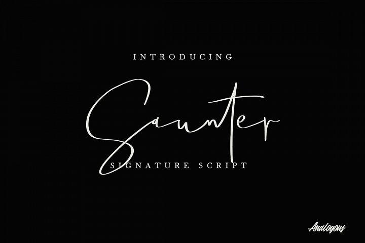 Saunter Signature Script