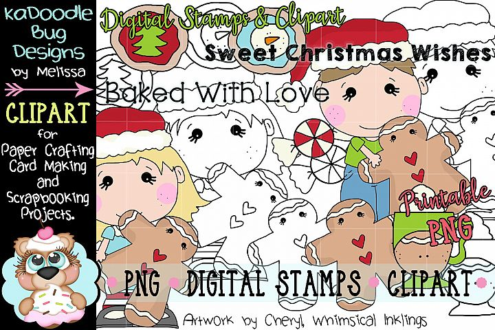 Gingersnap Kids Digital Stamp and Clipart Illustrations PNG