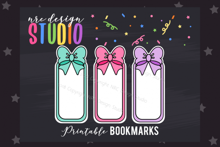 Cute Bows Bookmark, Planner Printable