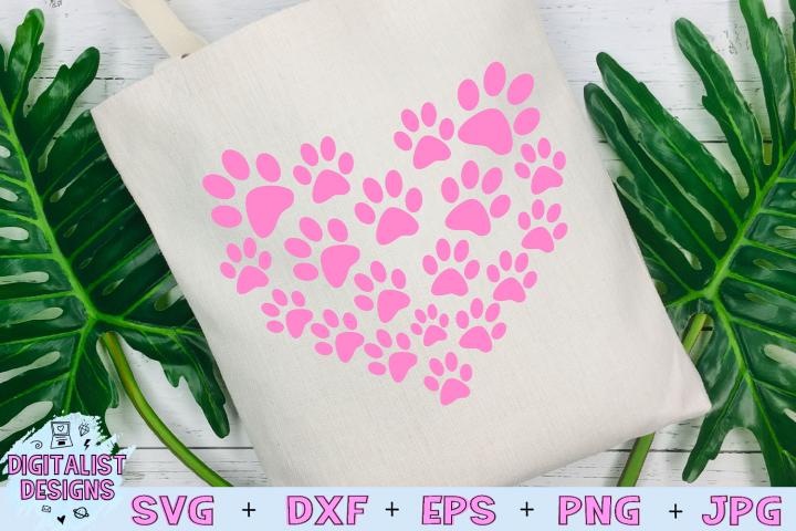 Pawprint Heart SVG