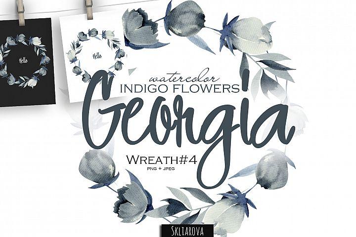 Georgia. Indigo Wreath #4