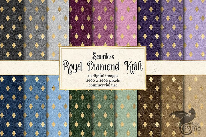 Royal Diamond Kraft Digital Paper