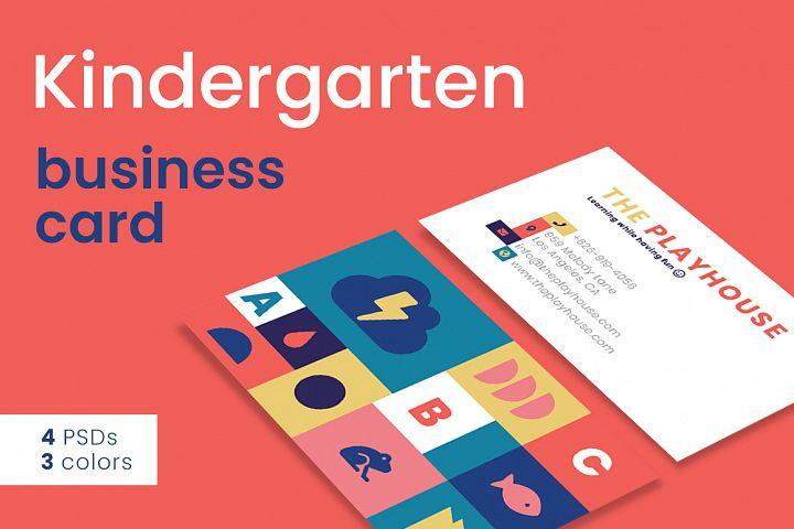 Kindergarten Business Card