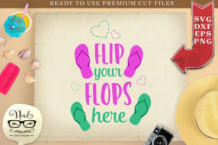 Flip your flops here SVG Cut File