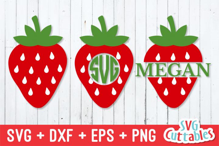 Strawberry   Monogram Frame   SVG Cut File