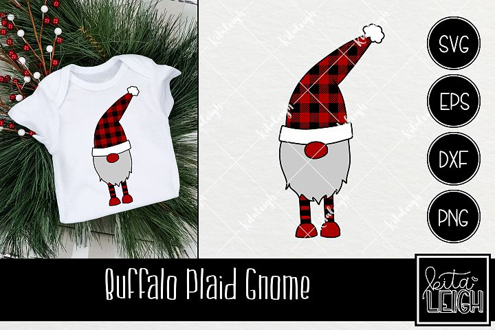 Buffalo Plaid Christmas Gnome SVG