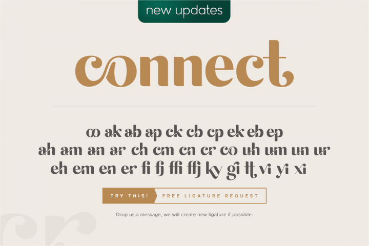 michael beautiful ligature font example image 4