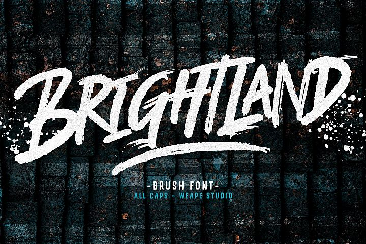 Brightland Brush Font