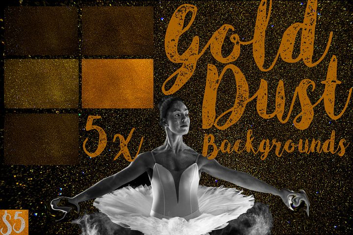 5 Gold Dust Texture Backgrounds
