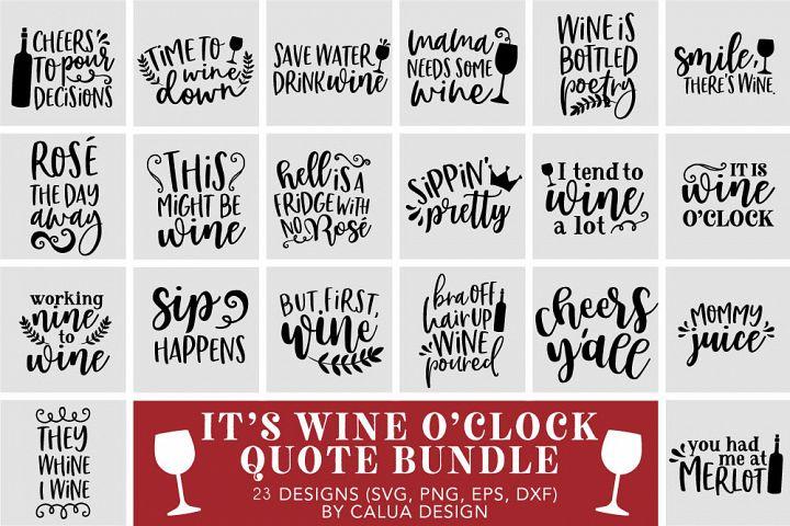 Wine Lovers Quote SVG Cut File Bundle