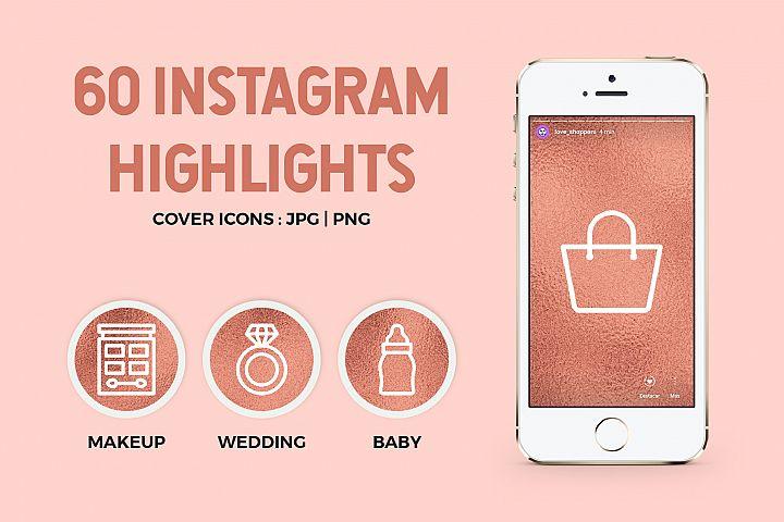 Rose Gold Instagram Story Highlight