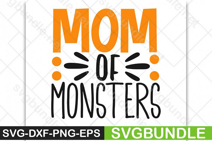 Mom of monsters SVG|Halloween SVG|Pumpkin SVG