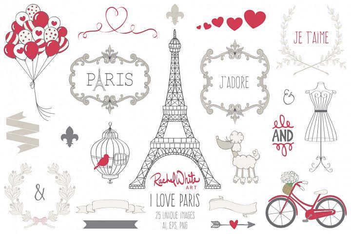 I Love Paris - Free Design of The Week Font