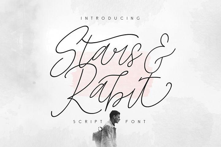 Star & Rabit Script Font